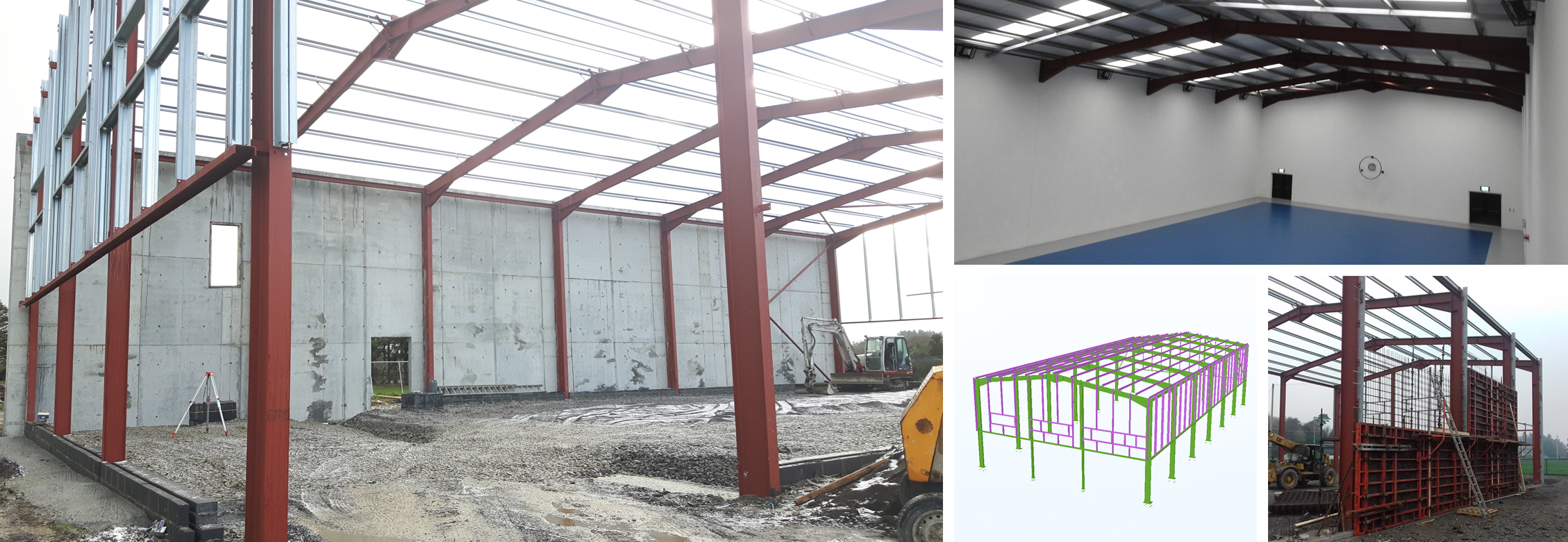 Lally Chartered Engineers work on the new Tourmakeady GAA Club which involved structural design, build and finishes.