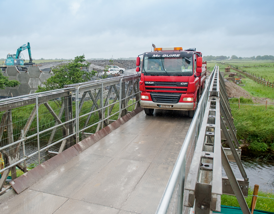 Lally Chartered Engineers provide structural designs for temporary bridges